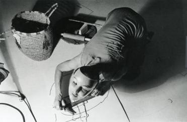 "Jonas' alter ego Organic Honey's ""Vertical Roll,"" at Ace Gallery, Los Angeles, in 1972."