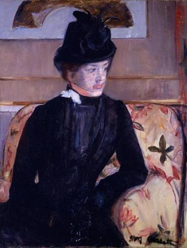 "Mary Cassatt, ""Young Woman in Black (Portrait of Madame J)."""