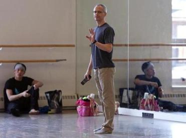 "Ballet master Anthony Randazzo (above) says, ""Though it's a light piece, ironic and witty, it's physically demanding."""