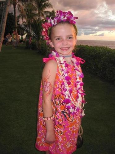 Eleanor Brogan, 8, of Wayland, went to Hawaii with her family last year.