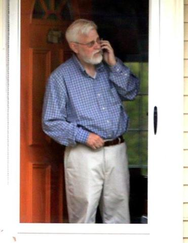 Rabbi Barry Starr was photographed at his home in Sharon Friday.