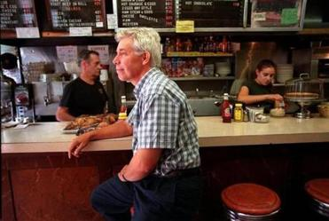 Dr. Green at Charlie's Sandwich Shoppe in 2001.