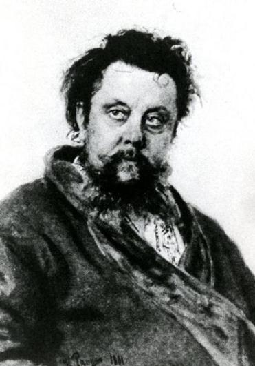 "Sketched out by Modest Mussorgsky (above) in 1874, ""Jesus Navin"" will be performed by the Zamir Chorale on Monday."