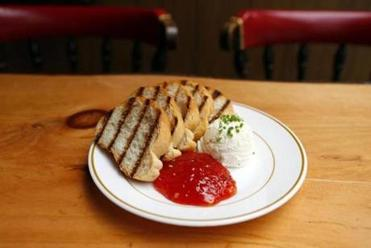 State Park's grilled bread with creamy cheese and pepper jelly snacks.