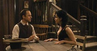 Giovanni Ribisi and Sarah Silverman as Edward and Ruth.