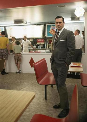 "Jon Hamm as Don Draper in a scene from the seventh season of AMC's ""Mad Men."""