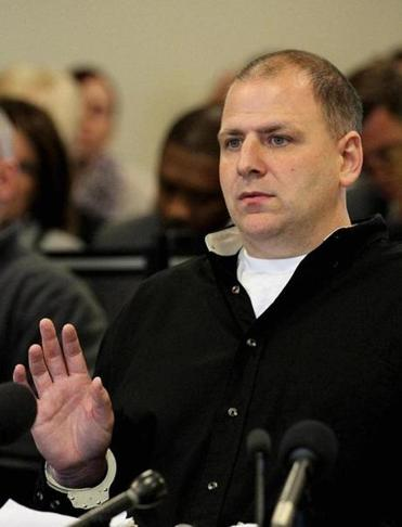 Joseph Donovan, 38, was sworn in during a hearing before the parole board Thursday.