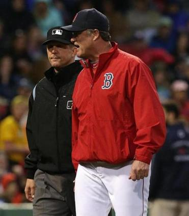 John Farrell has found many instances to complain to umpires this season about ball-and-strike calls.