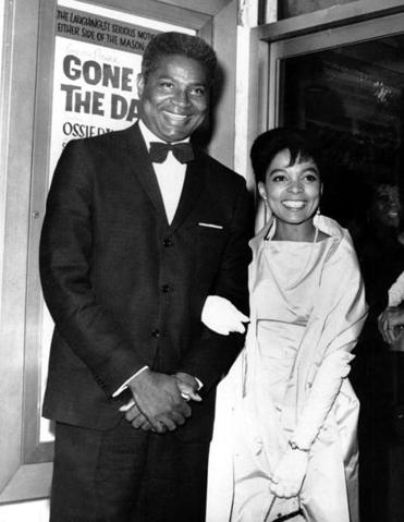 "In 1963, Ossie Davis and Ruby Dee attended the opening night of the film ""Gone Are the Days!"" in New York City."