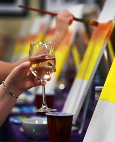 where to paint and sip in the south suburbs the boston globe