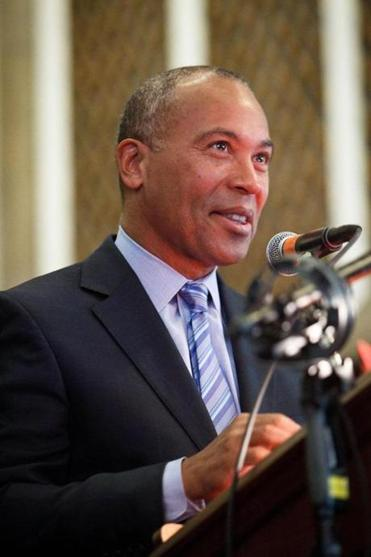 Governor Deval Patrick has focused on results-driven management.  Dina Rudick Photo /Globe Staff