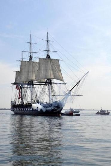 The 1797 ship hasn't fired a round in combat since 1815.