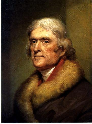 Painting of Thomas Jefferson by Rembrandt Peale