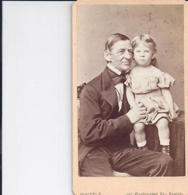 In an 1868 photo, Forbes's great-great-great-grandfather Ralph Waldo Emerson with his grandchild Ralph Emerson Forbes.