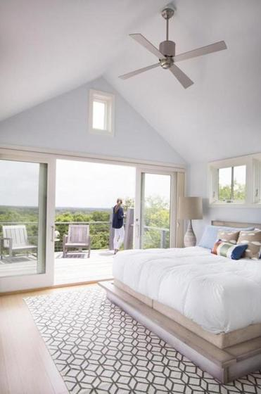 Building their martha s vineyard dream home the boston globe for Bedroom cathedral ceiling