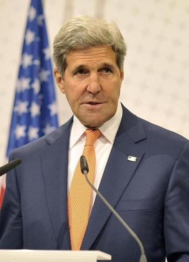 US Secretary of State John Kerry addressed the media in Vienna.