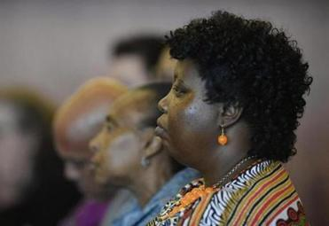 Ursula Ward, mother Odin Lloyd, listened during the hearing.