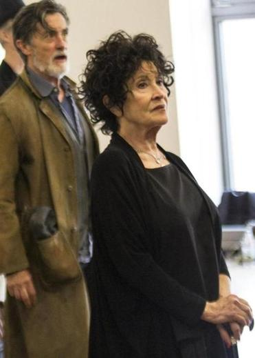"Roger Rees and Chita Rivera in rehearsal for a Williamstown Theatre Festival production of ""The Visit."""
