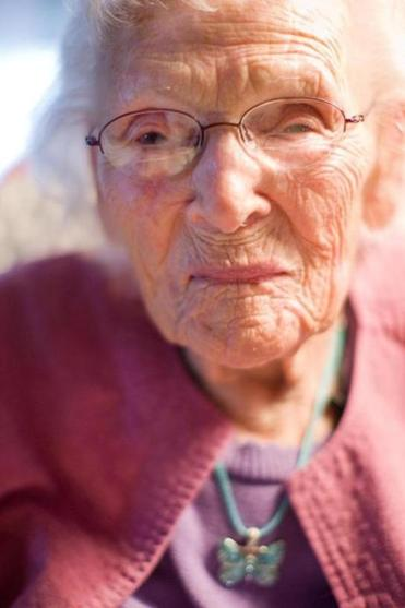 Bernice Madigan, pictured in 2009 on the cusp of her 110th birthday.