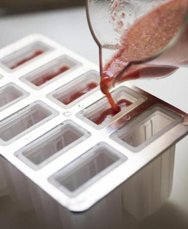 TIP: When you fill your molds, be sure to leave about ½ inch of head space at the top because the liquid expands as it freezes.