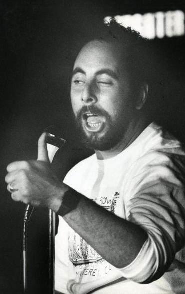 Rich Ceisler at Comedy Connection in 1987.