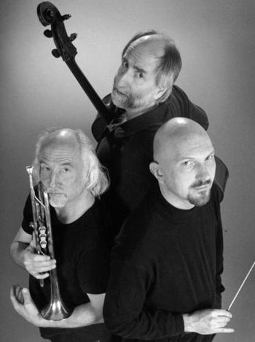 Tre Corda is (from left) trumpeter Greg Hopkins, cellist Eugene Friesen, and pianist Tim Ray.