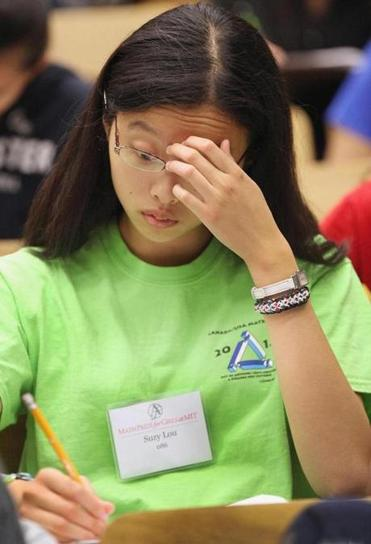 Suzy Lou of San Jose, Calif. concentrated during the competition.