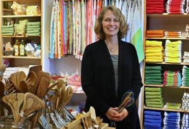 Acton, MA 10/27/14 Willa Breese, owner of the newly expanded Kitchen Outfitters in Acton, MA. For Short Order
