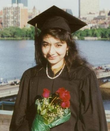Aafia Siddiqui after her graduation from MIT.