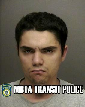 Christopher Hicks's booking photo was distributed by Transit Police on the agency's website and Twitter feed.