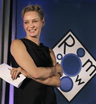 Actress and board member Uma Thurman at the Room to Grow gala.w