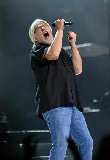 Bob Seger onstage at the TD Garden.