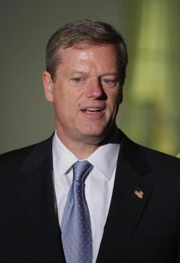 Massachusetts Governor-elect Charlie Baker talked with reporters outside the White House after meeting with US President Barack Obama on Dec. 5 in Washington, DC.