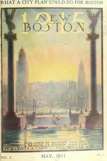 The cover of New Boston Vol. 2, No. 1 (May 1911).