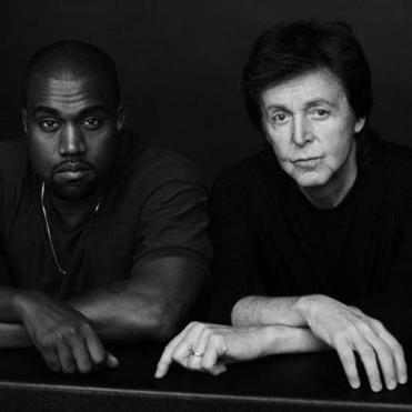 Kanye West (left) and Paul McCartney.
