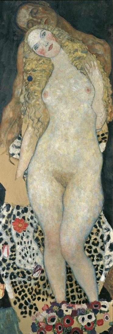 "Detail of ""Adam and Eve"" by Gustav Klimt."
