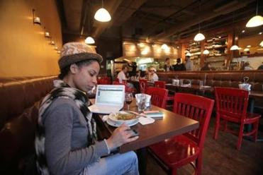 Boston, MA - 01/20/15 - Alexandria King relaxes with lunch at Picco on Tremont Street in the South End. Lane Turner/Globe Staff Section: MAG Reporter: francis storrs Slug: 020815BestPizza