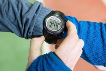 Brian Harvey's Garmin GPS watch.