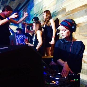 Actress Taryn Manning DJing at El Hefe in Scottsdale.