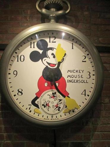 08tank - The first-ever Mickey Mouse watch was produced in Waterbury in 1933; examples, including this pocket watch, are on display at the Timex Museum. (Diane Bair for The Boston Globe)