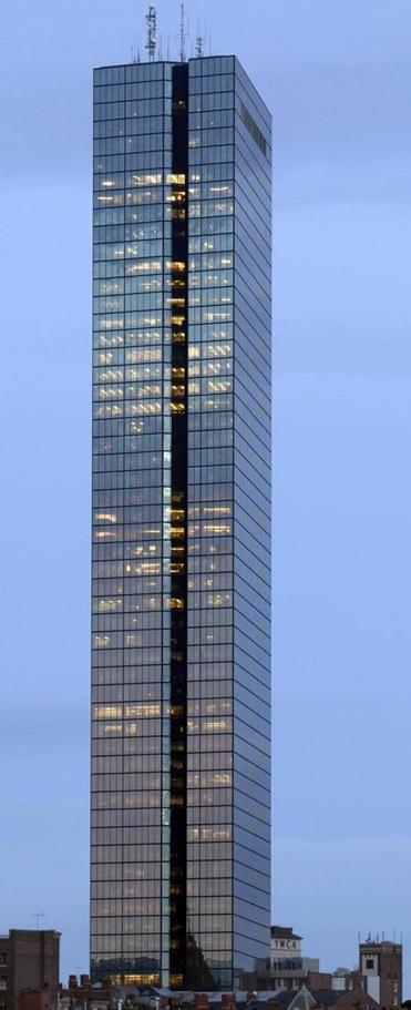 The most famous building in New England will no longer be called the Hancock Tower—at least by its owner.