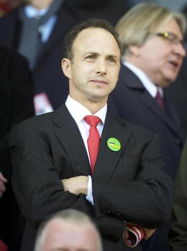 LIVERPOOL, ENGLAND - Sunday, October 24, 2010: Liverpool's board member investor Michael Gordon during the Premiership match against Blackburn Rovers at Anfield. (David Rawcliffe/Propaganda)