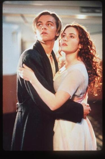 "Leonardo DiCaprio and Kate Winslet in ""Titanic."""