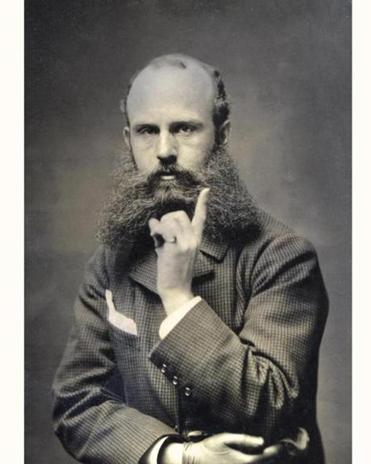 William Sturgis Bigelow wore a trademark swallowtail beard.