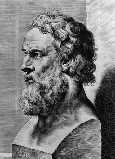 Circa 350 BC, A bust of the Greek philosopher Plato, (c428 - c348 BC), one of the most important philosophers in the history of mankind. (Photo by Hulton Archive/Getty Images)
