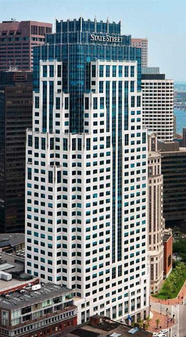 State Street Corp.'s headquarters, One Financial Center, at 1 Lincoln St. in Boston.