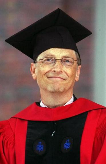 CAMBRIDGE, MA - JUNE 7: Microsoft co-founder and Chairman Bill Gates listens during commencement ceremonies at Harvard University June 7, 2007 in Cambridge, Massachusetts. Gates, who enrolled at Harvard in a pre-law program in 1973 and left in his junior year, received an honorary Doctor of Laws degree. (Photo by Darren McCollester/Getty Images) *** Local Caption *** Bill Gates