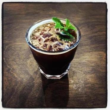 A coffee julep at Houndstooth Coffee.