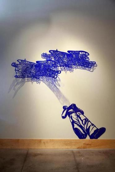 "Jessica Sperandio's ""Blue Smoke"" at Thompson Gallery."