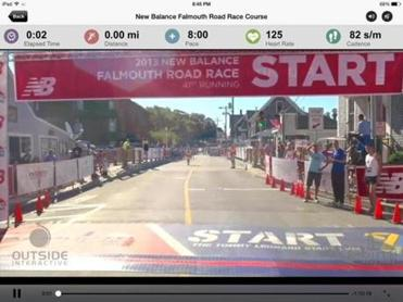 Shots from the Falmouth Road Race route.